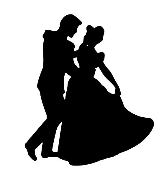 566x582 Cendrillon Et Le Prince Charmant Silhouette Decal Decoration