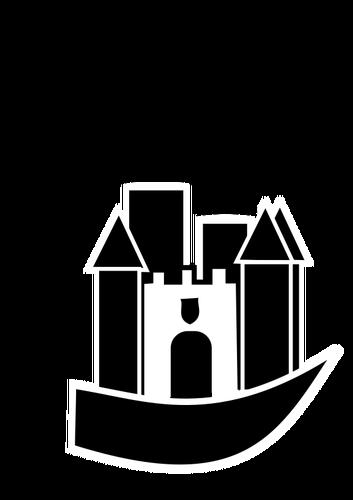Cinderella Castle Silhouette Vector