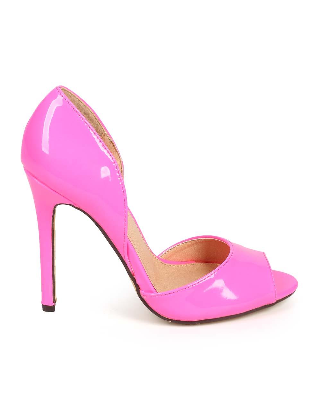1000x1251 Office Liliana Df67 Women Patent Peep Toe D'Orsay Single Sole