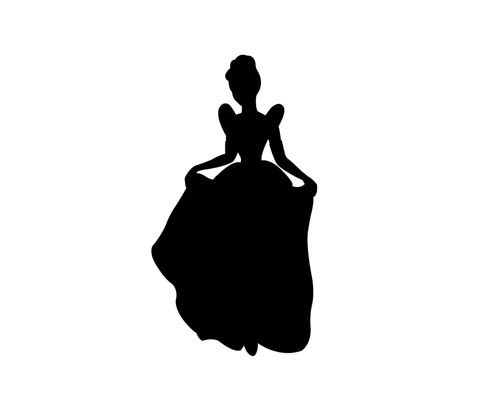 1747x1456 Cinderella Silhouette