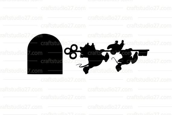 570x380 Digital File Disney Mice Gus And Jaq Running With Key Cinderella
