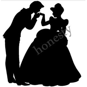 300x300 Prince Charming And Cinderella Silhouette Car Window Sticker Wall