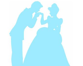 340x270 Blue Cinderella Silhouette Clipart