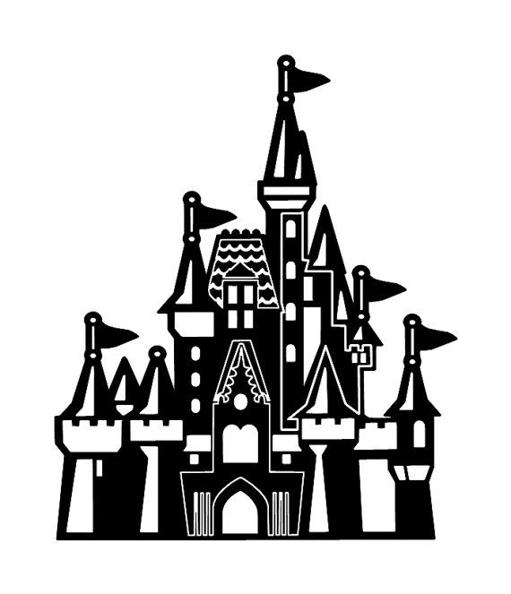 cinderella silhouette clipart at getdrawings com free for personal rh getdrawings com disney castle clipart black and white disney princess castle clipart