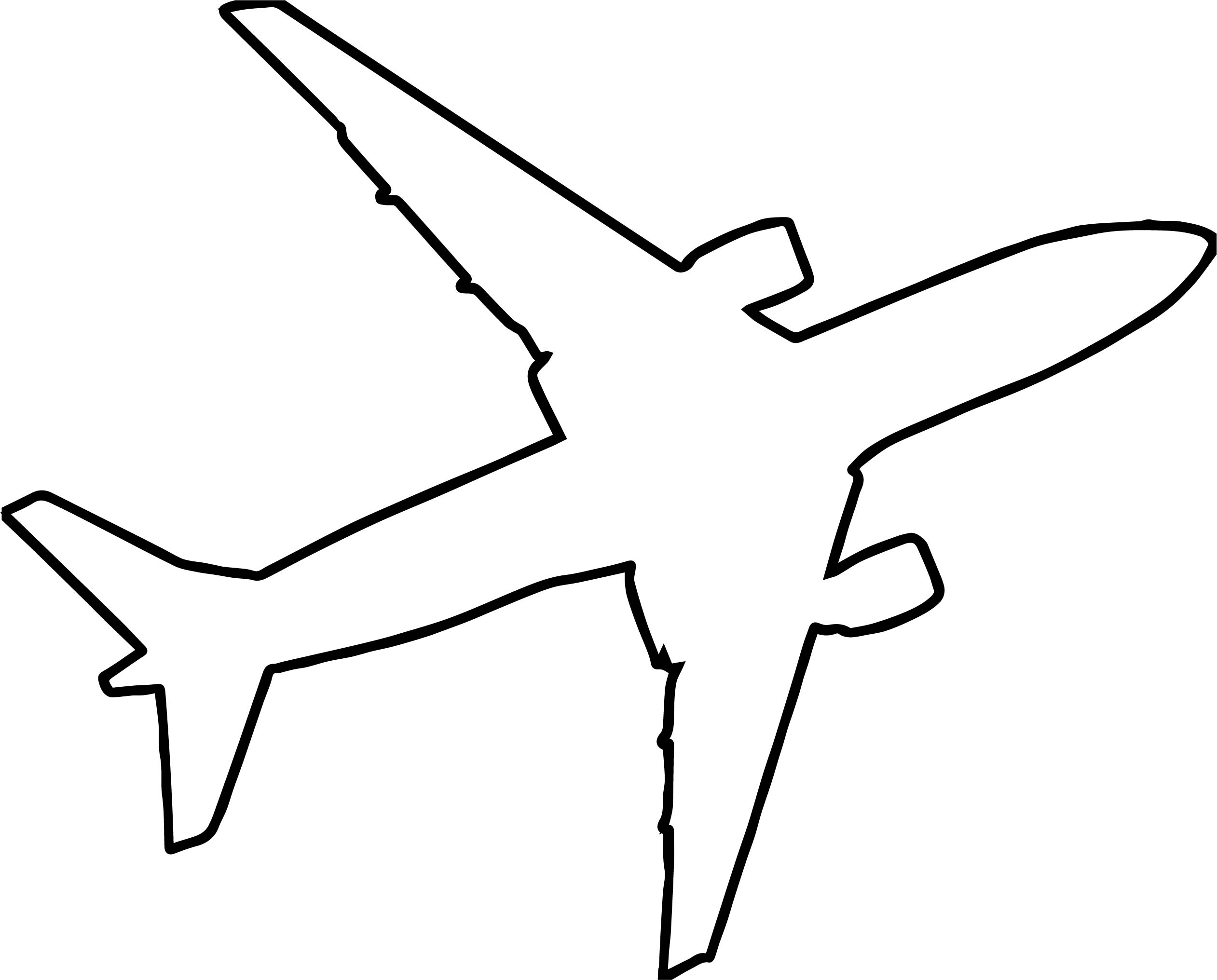 2523x2032 Airplane Outline Silhouette Coloring Page Wecoloringpage
