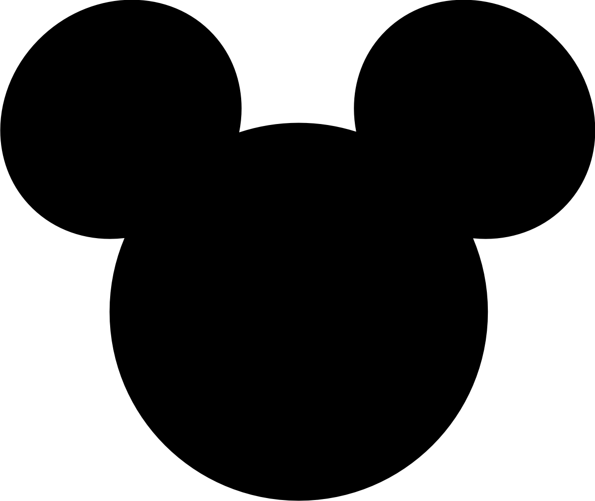 1199x1010 Pix For Mickey Face Silhouette