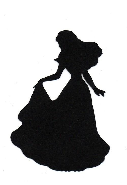 Cinderella Silhouette Printable