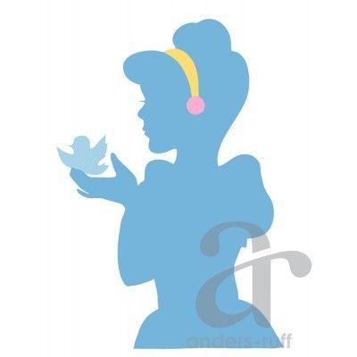 400x400 Fairy Tale Princess Cinderella Style Printable Silhouette Poster