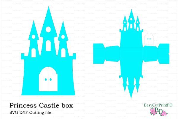 600x401 Princess Frozen Castle Box Card Scrap Castles, Box
