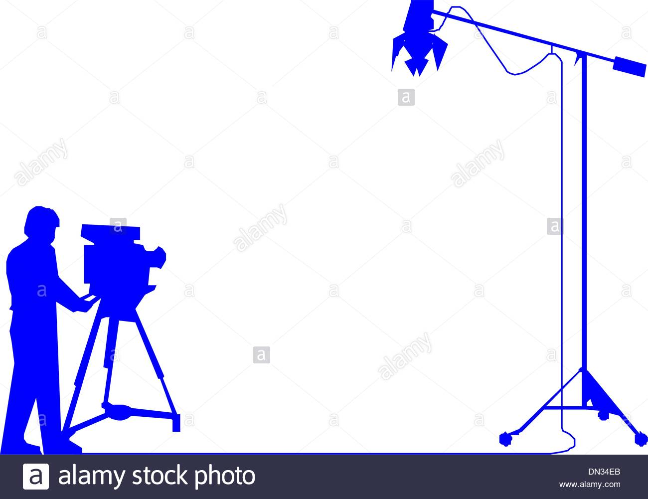 1300x1001 Cameraman Shoot The Cinema With Movie Camera Stock Vector Art