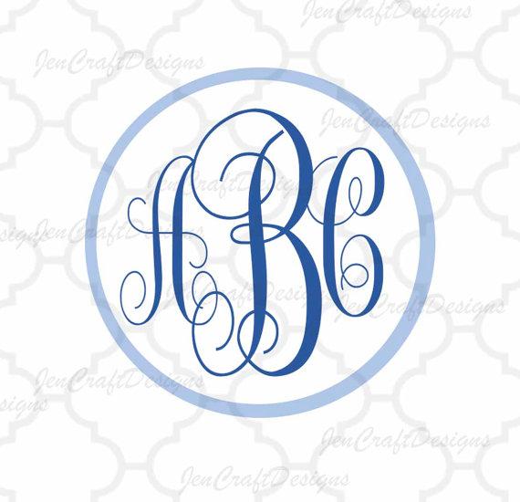 570x550 Curly Monogram Circle Font Svg Dxf Eps Jpg Alphabet