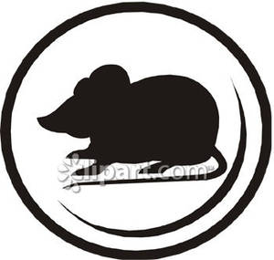 300x285 Mouse Silhouette In A Circle