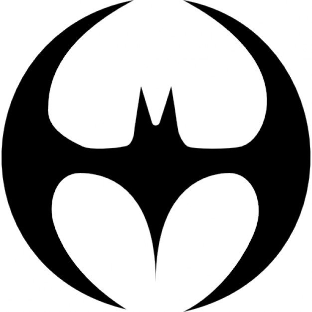 626x626 Bat Silhouette Black Shape With Wings Forming A Circle Icons