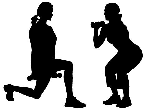 500x350 Free Exercise Silhouette Cliparts, Hanslodge Clip Art Collection
