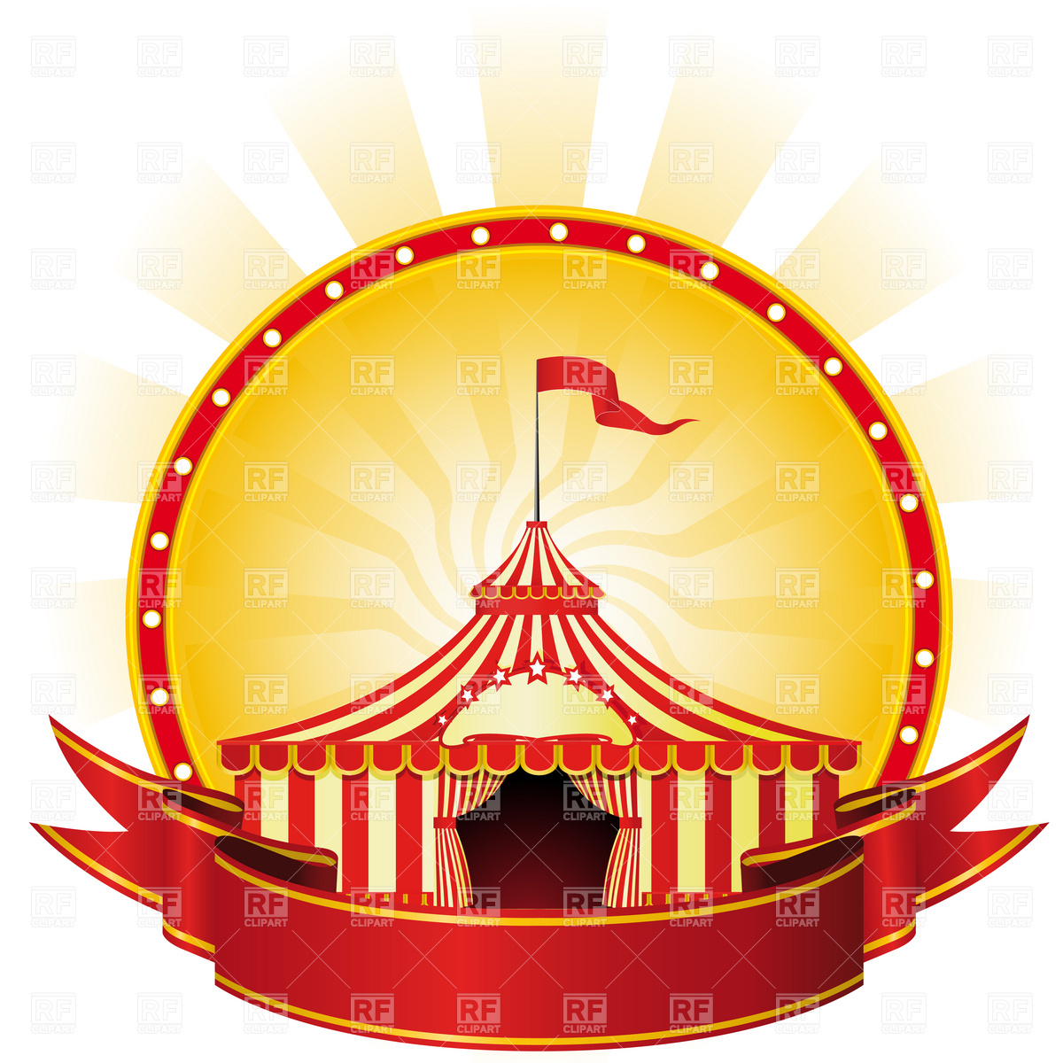 1200x1200 Circus Clipart Vintage Carnival Tent