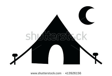 450x306 Tent Silhouette Tent Silhouette Inside A Rounded Square Free Icon