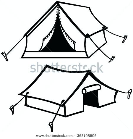 450x470 Tent Silhouette Tent Silhouette Stock Photos Royalty Tent