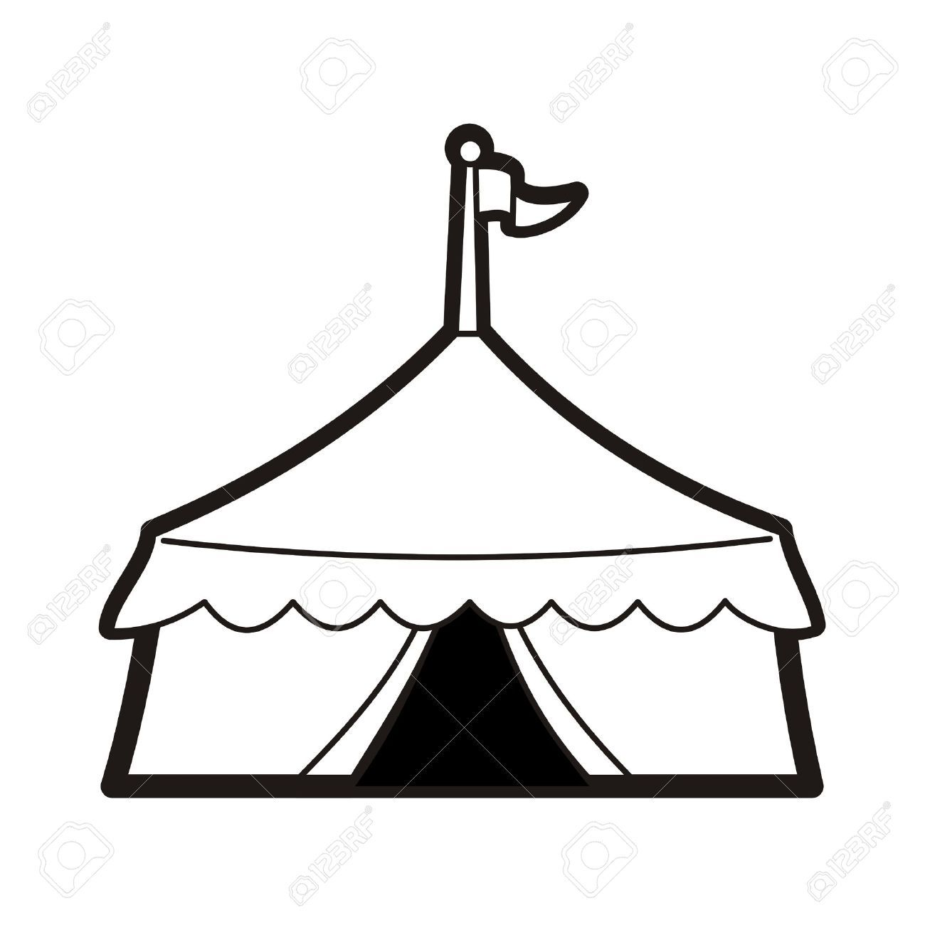 1300x1300 Circus Tent Silhouette