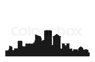 320x209 Modern City Silhouette Stock Vector Colourbox