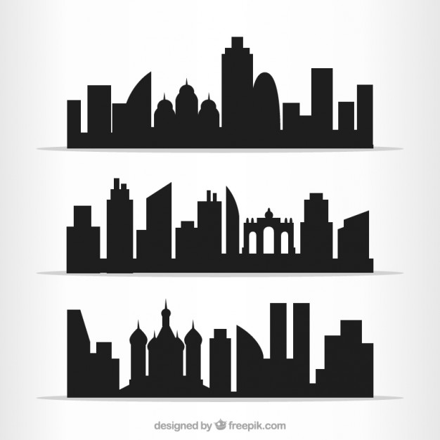 626x626 Cities Outlines Pack Vector Free Download