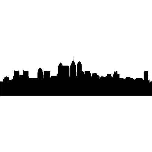 501x501 City Skyline Landscape Silhouette Vector Set Free Vector