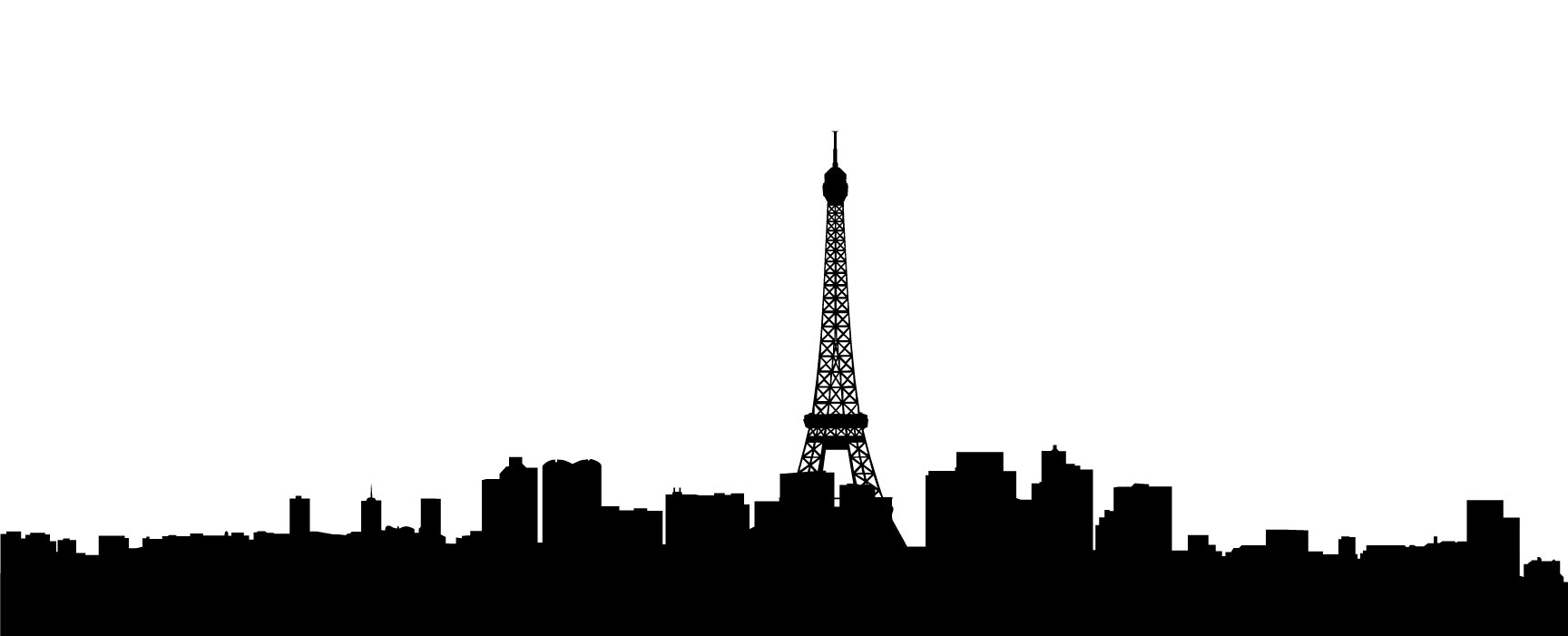 1728x701 21 Images Of Paris City Silhouette Template