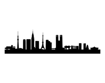 340x270 New York City Skyline Wall Vinyl Decal Landscape Ny Sticker