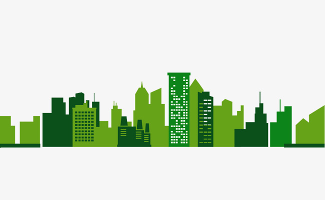 650x400 Green City Silhouette, Business, Ppt, City Silhouette Png