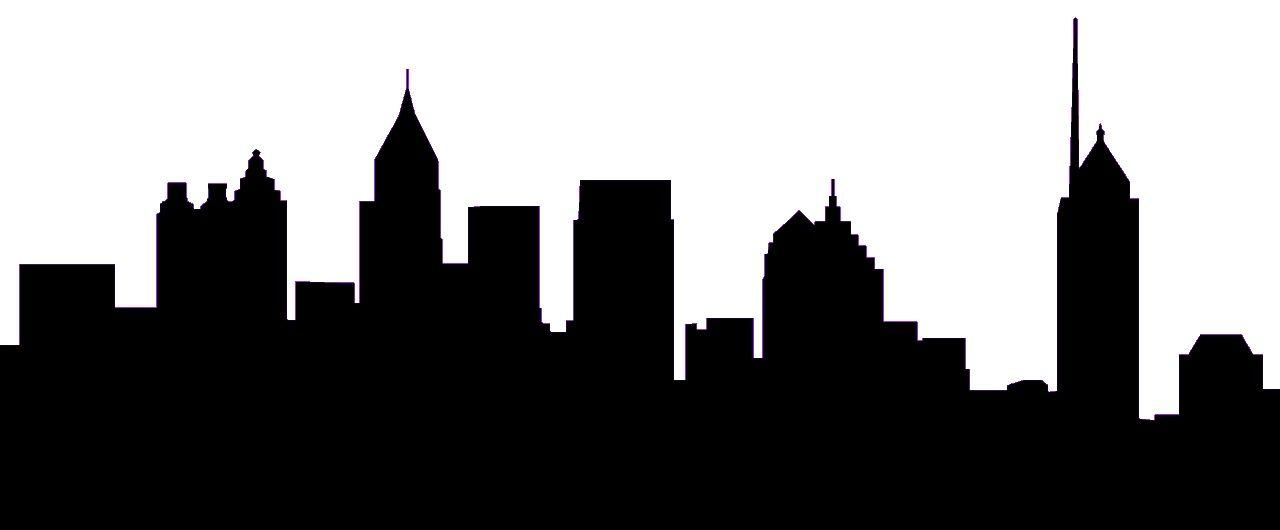 1280x530 Atlanta Skyline Silhouette Clip Art Home Projects