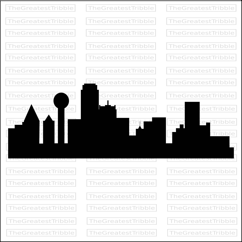 3000x2997 Dallas City Skyline Silhouette Dallas City Skyline Outline Eps Svg