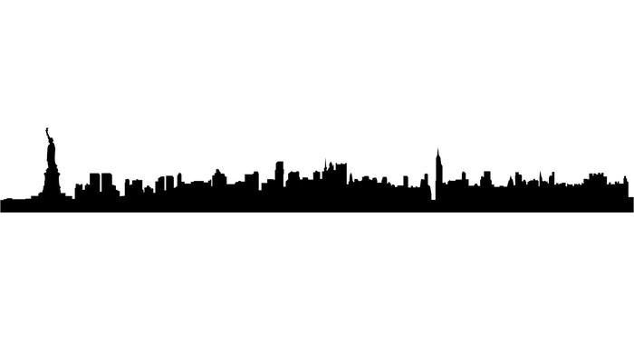 700x376 New York City Silhouette Sticker We Live To Change
