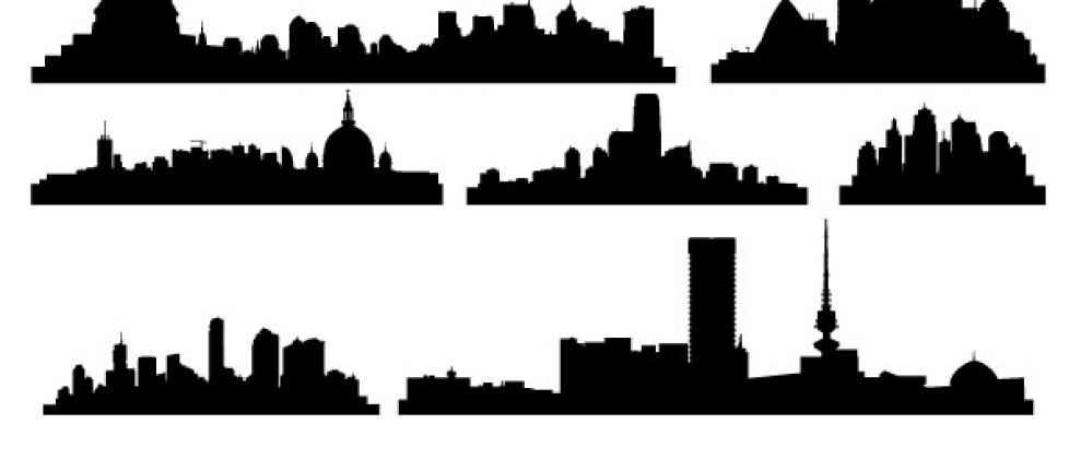 978x420 Skyline Clipart Gotham City