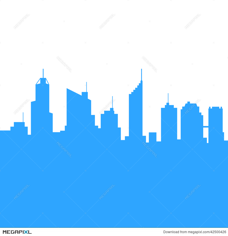 800x830 City Skylines Silhouette Background. Vector Illustration 42500426