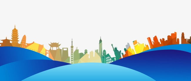 650x277 Color Urban Silhouette, Colored Background, City Silhouette