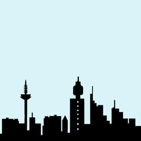 285x285 Futuristic City Silhouettes Background Vectorvector Vector Clipart