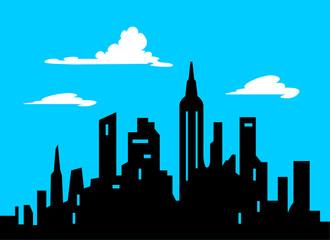330x240 Night City Skyline Background