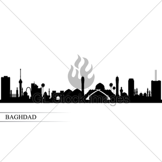 325x325 Tehran City Skyline Silhouette Background Gl Stock Images