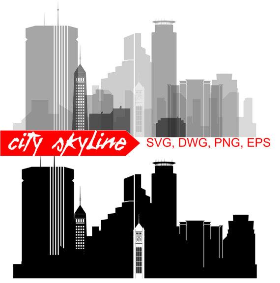 570x576 Minneapolis Svg, Minneapolis City Vector Skyline, Minneapolis