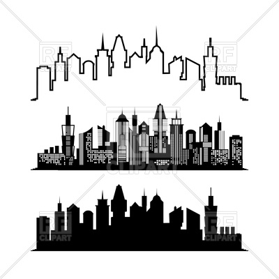 400x400 Set Of Skyscraper Sketches Royalty Free Vector Clip Art Image