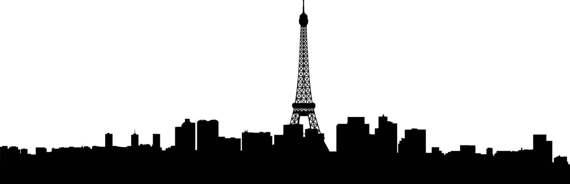 570x184 City Skyline Paris Svg Clipart, International City Art, Digital
