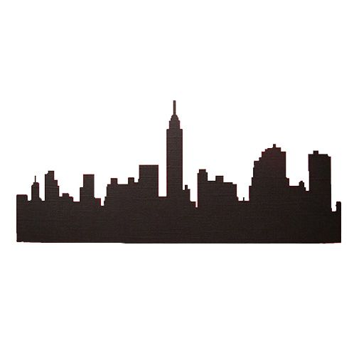 498x500 New York City Silhouette Cutouts For Side Walls Back Lit
