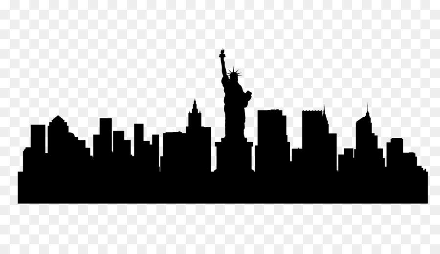 900x520 New York City Skyline Silhouette Illustration