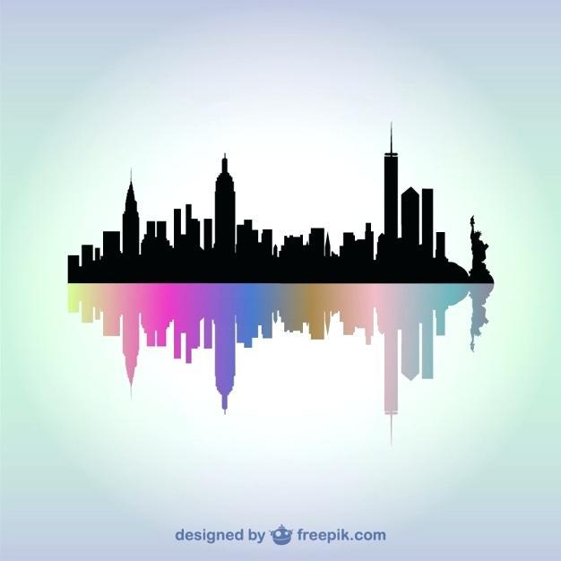 626x626 New York Skyline Art Artist John Painting City Vector Lisacintosh