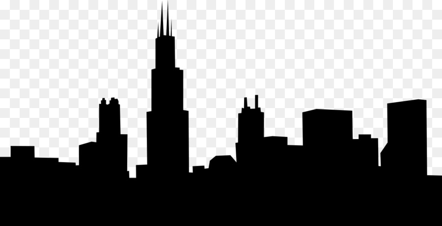 900x460 Chicago Skyline Royalty Free Clip Art