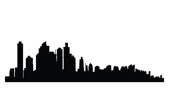 550x354 City Silhouette Vector