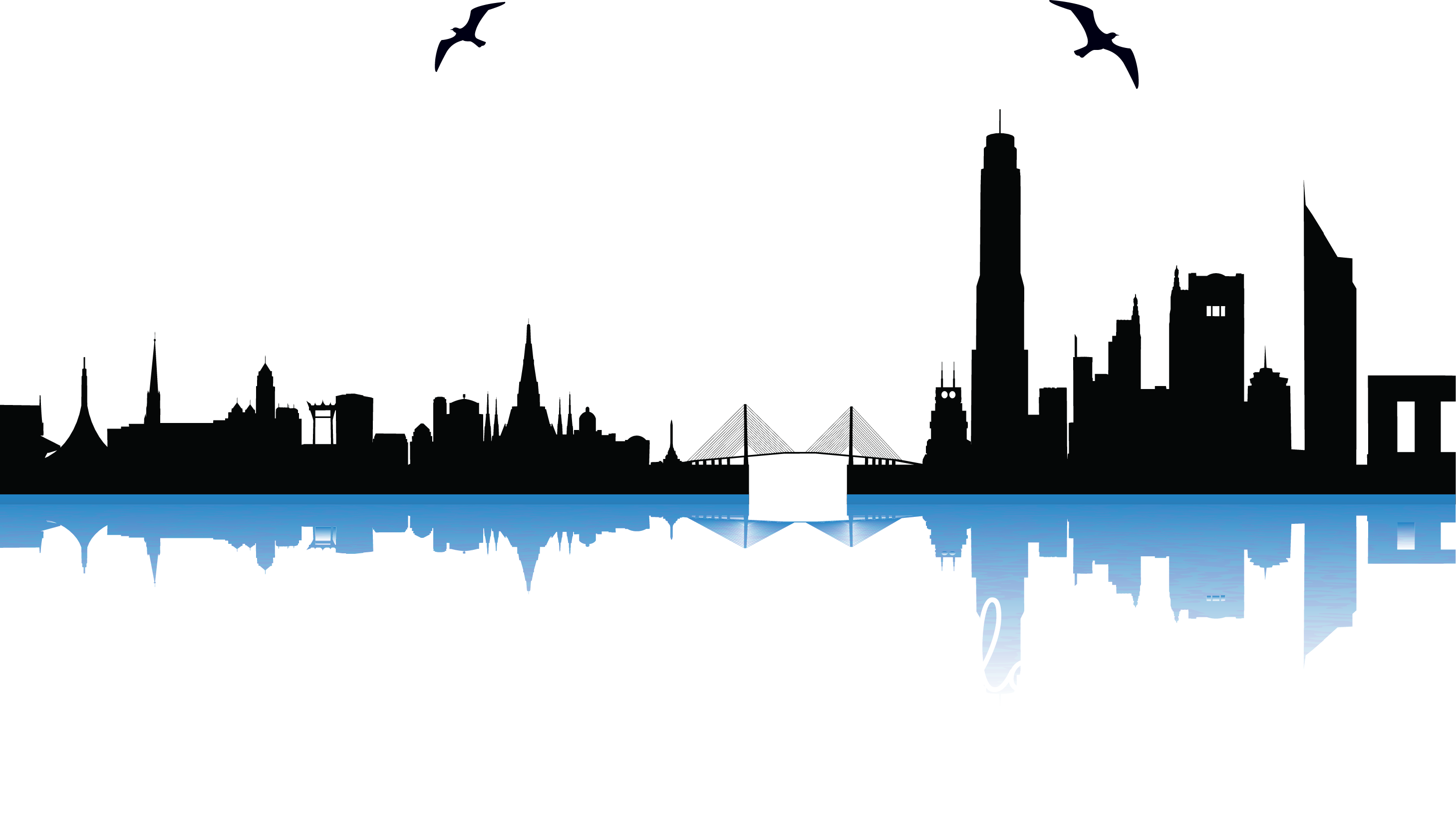 City Silhouette Vector Free