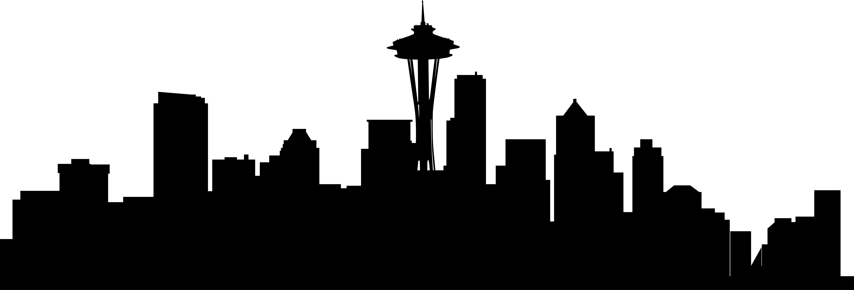5719x1947 Seattle Skyline Silouette Seattle Skyline Silouette Backgrounds