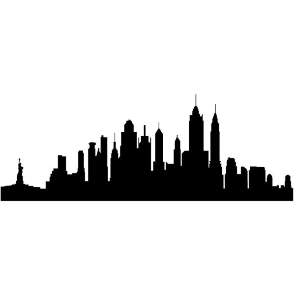600x600 New York City Skyline Silhouette