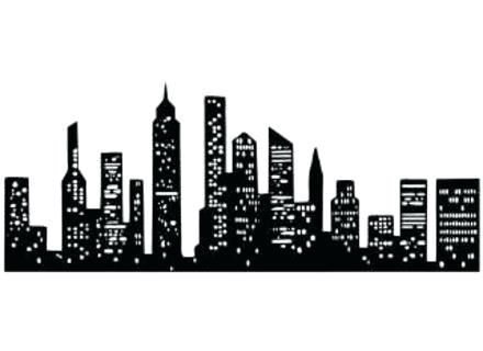440x320 New York Metal Wall Art Art Silhouette City New City Skyline