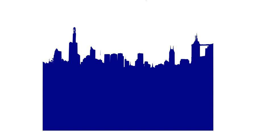 900x480 New York Skyline Outline And New City Skyline Silhouette Vector